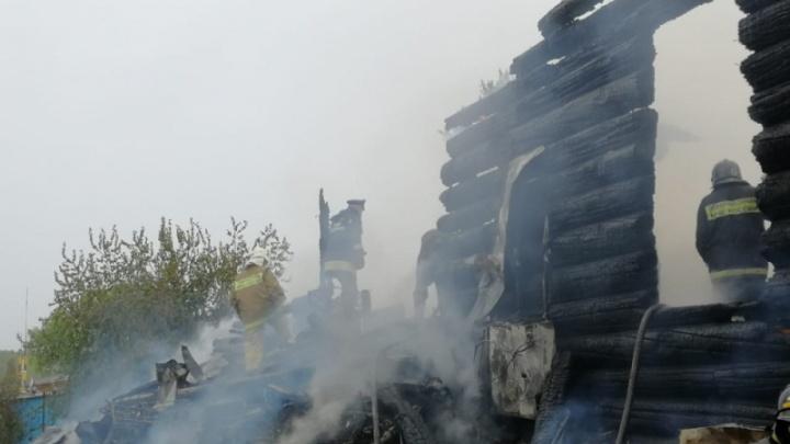 Чимеевский монастырь в Курганской области почти полностью уничтожен огнем