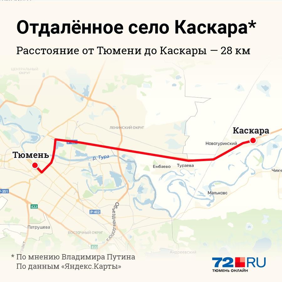 На самом деле до Каскары из областного центра можно добраться всего за 40 минут