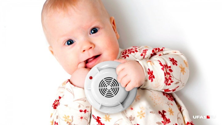 Новорождённым в Башкирии будут дарить пожарный извещатель