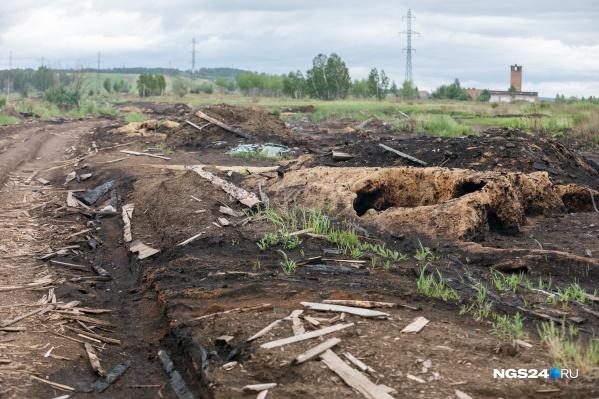 Тлеющие свалки горбыля и опилок разбросаны по периметру Канска