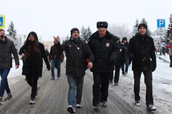 Томатина обвиняют в неповиновении сотрудникам полиции на митинге 28 января