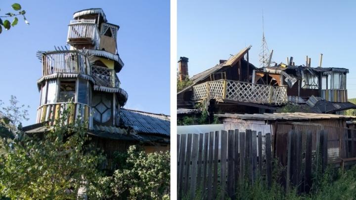 Уже не как в «Гарри Поттере»: замок с балконами, который уралец построил для дочерей, разрушили