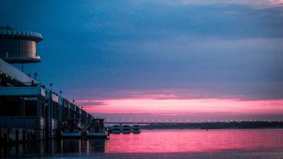 «Под непрерывной атакой чаек»: известный фотограф запечатлел футуристический рассвет Волгограда