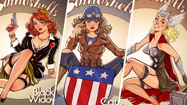 Ярославский художник нарисовал супергероев Marvel в образах сексуальных женщин: 12 рисунков