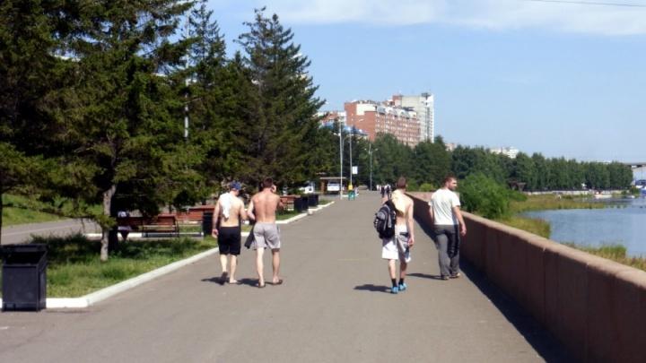 Адская жара задержится в Красноярске до конца месяца