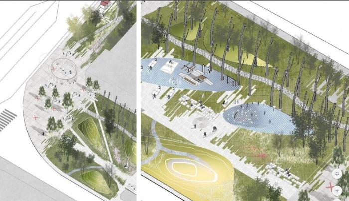Сквер в центре города должен стать общественным пространством и точкой притяжения