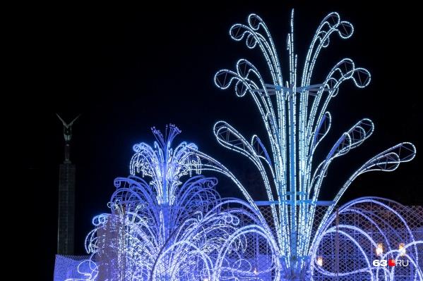 Светящиеся фонтаны будут радовать самарцев уже с 1 декабря