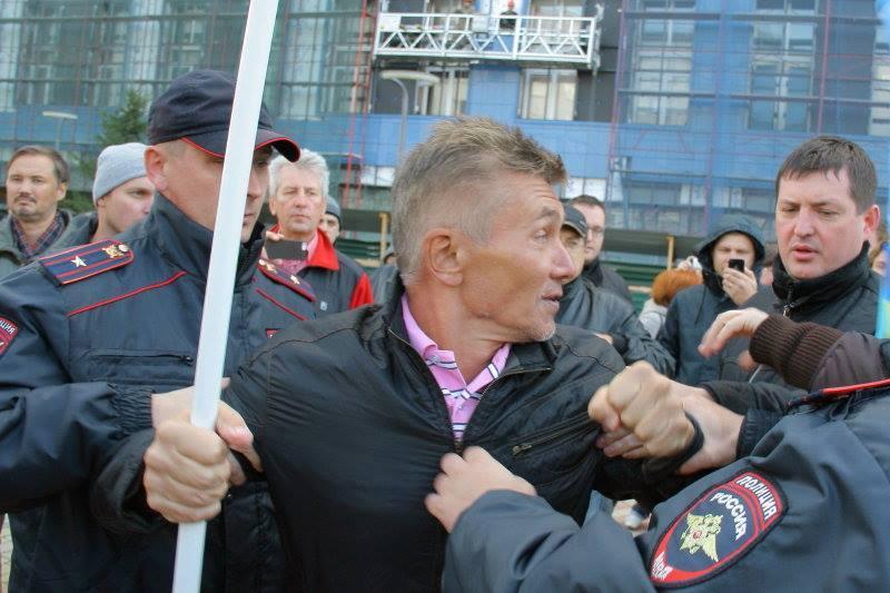 Алексей Мананников на Марше мира, 21 сентября 2014 года