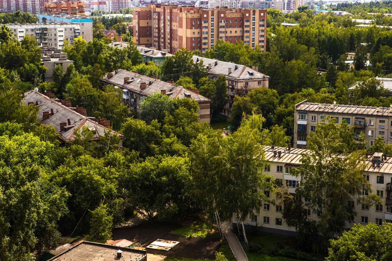 Среди небольших домов даже зелень кажется гуще, признают жители хрущёвок