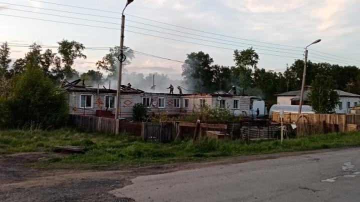 В Кетовском районе новые пожары. Горели свалка и жилой дом