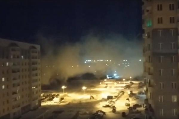 Дымовую завесу сняли на видео