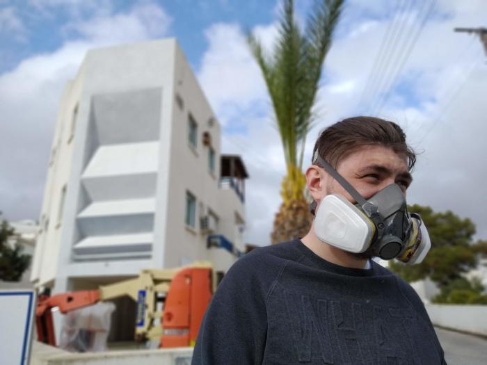 За спиной у художника «Архитектурная серия» команды Spektr в Айя-Напе