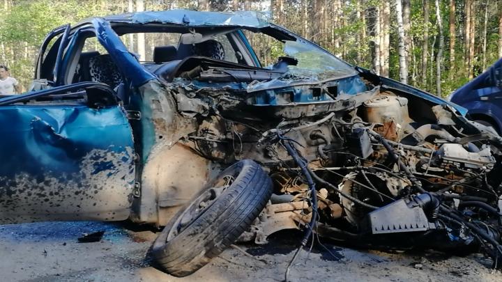 В Перми два человека пострадали в массовой аварии с участием пяти машин