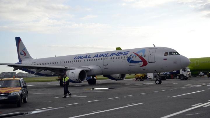 Летевший из Омска в столицу самолёт совершил экстренную посадку в Екатеринбурге