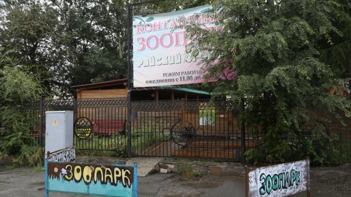 Гибель животных в контактном зоопарке в челябинском горсаду переросла в уголовное дело