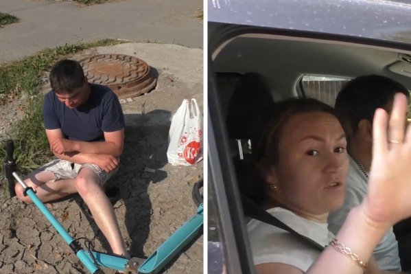 Больше всего возмущалась пассажирка скрывшейся с места ДТП машины. Судя по видео, она сочла, что раз мужчина сильно пострадал, то и ничего страшного не произошло