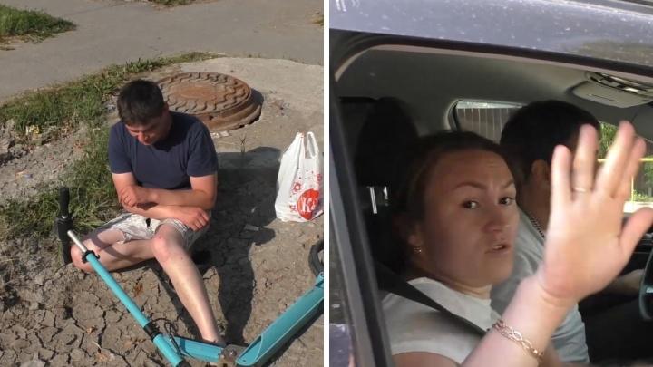 «Покажите мне труп»: очевидец задержал тюменца, скрывшегося с места ДТП, и снял это на видео