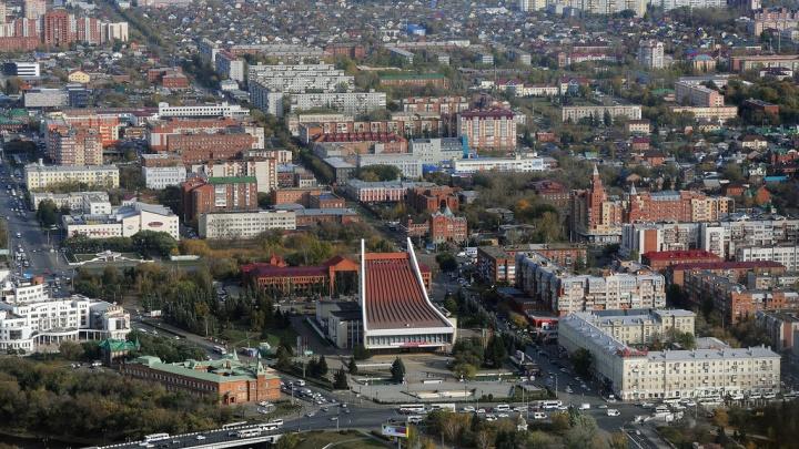 300 метров над уровнем Омска-2: пролетая над центром и Птичьей гаванью