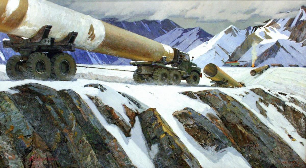 Картина «К самой северной трассе» из фонда Екатеринбургской галереи современного искусства