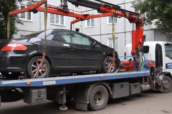 Машину арестовали в Свердловском районе Красноярска