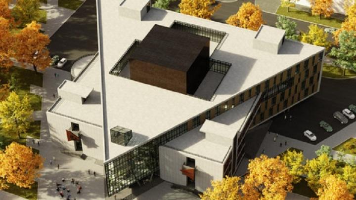 Стекло и плитка: разглядываем эскизы нового здания для театра «Грань»