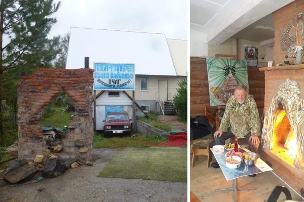 Свой дом и выстроенную из спрессованной соломы арт-галерею Иван Сибиряк решил назвать избой-рисовальней