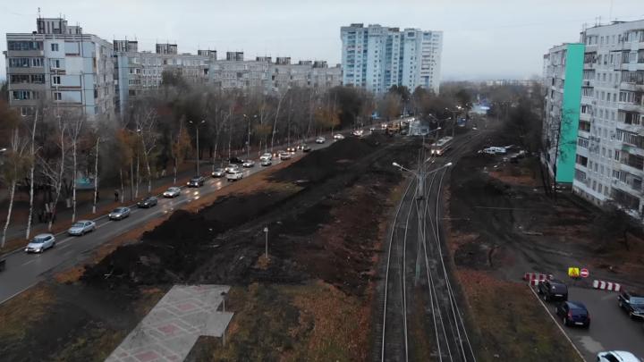 Без мебельного рынка, но с тротуарной плиткой: реконструкцию Ташкентской сняли с коптера