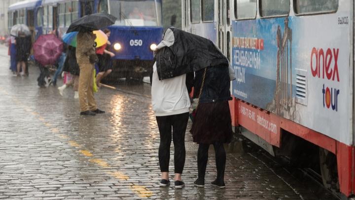 На смену жаре придет гроза и град: на Среднем Урале продлили штормовое предупреждение