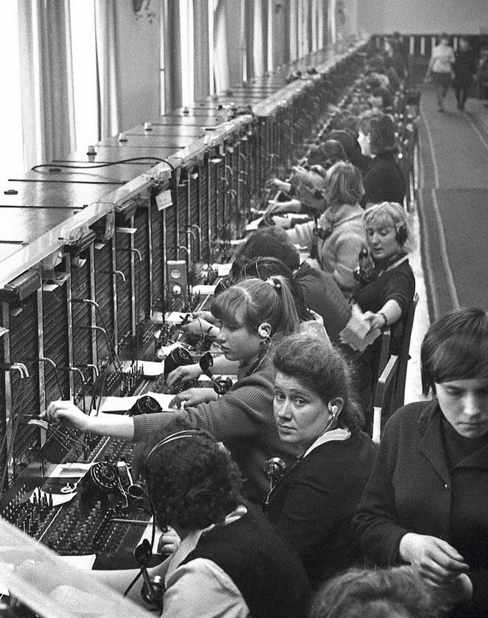 Свердловская телефонная станция. 1969 год. Фото А. Лысякова (ГАСО)