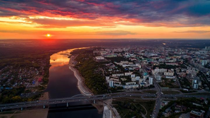 Город Шевчука, Земфиры и Фейса: новосибирский фотограф показал красоты Уфы с высоты
