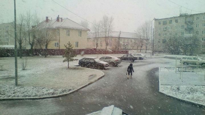 На севере Урала выпал снег: из-за него в Волчанске сократили празднование Дня Победы