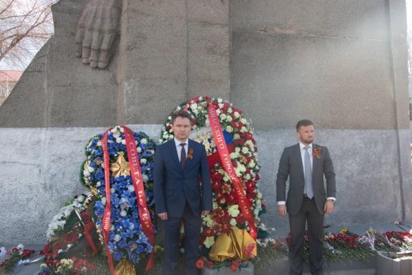 В среду Геннадий Васьков, еще в должности мэра, принимал участие в праздновании Дня Победы