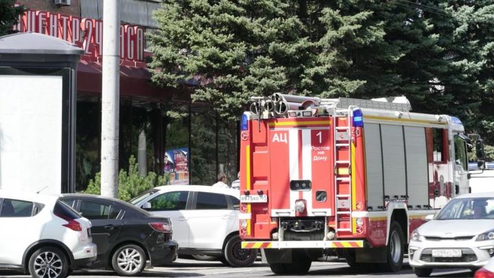 В центре Ростова загорелся девятиэтажный дом