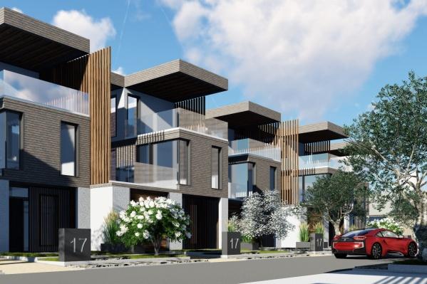 Один из типов жилья в новом проекте — таунхаусы с эксплуатируемой кровлей