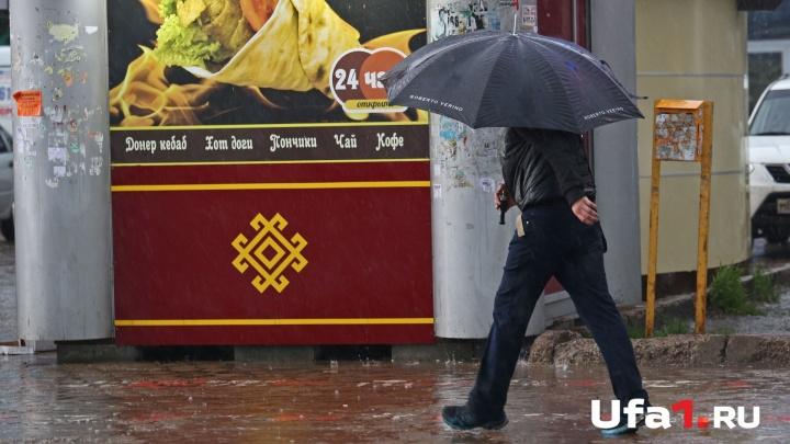 Сильные ливни, крупный град: в Башкирии в пятницу испортится погода