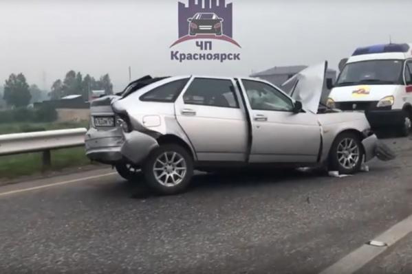Серьёзнее всех пострадал автомобиль «Лада Приора»