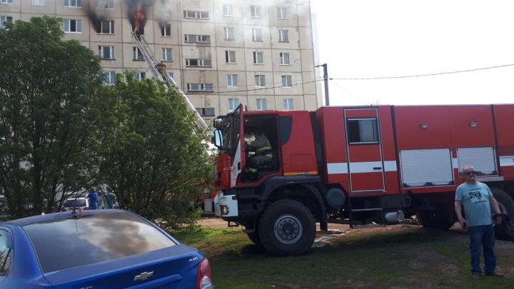 Эвакуировали взрослых и детей: открытое пламя из окон высотки сняли на видео