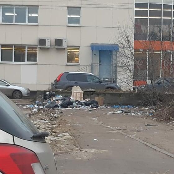 Глава районов приложил фото с разными датами, чтобы показать, что мусорка здесь всегда