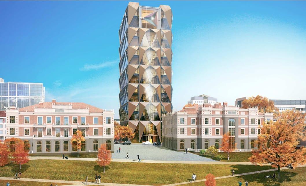 Эскиз будущей штаб-квартиры (вид со стороны Исети)