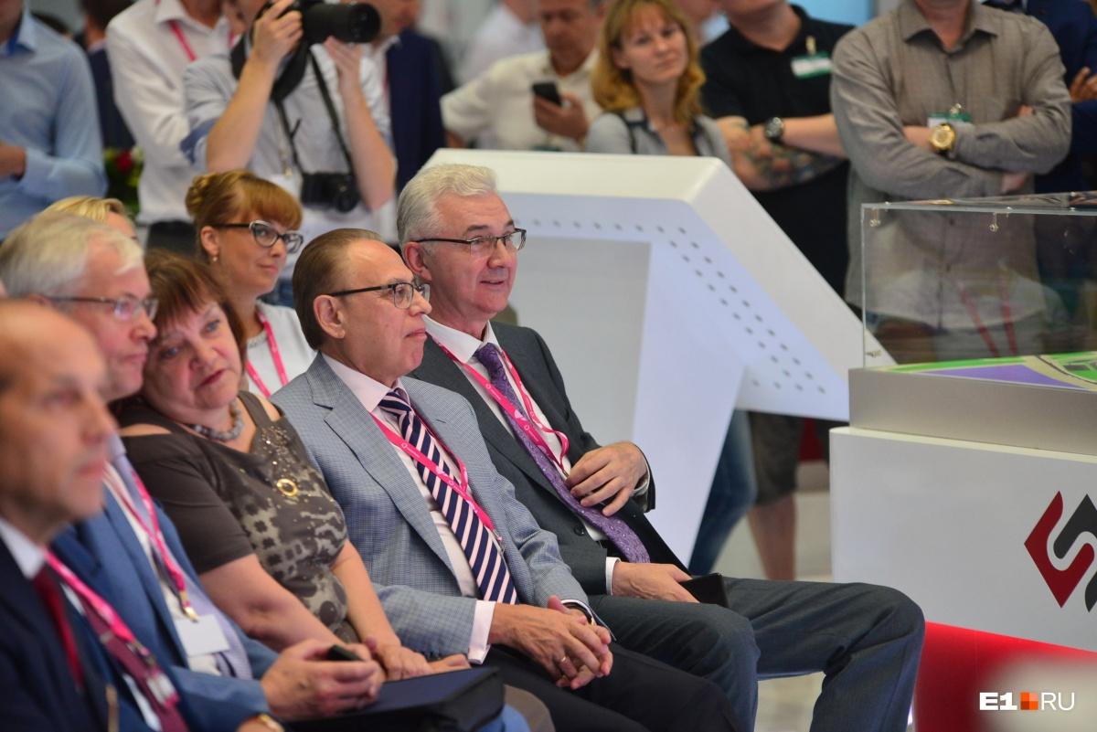 Глава администрации Екатеринбурга Александр Якоб и гендиректор «Синары» Михаил Ходоровский