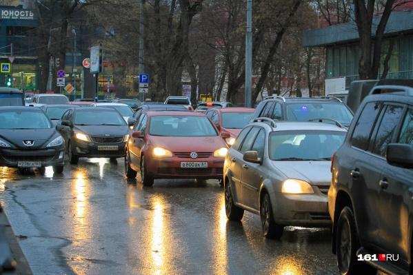 Центр города сковали пробки