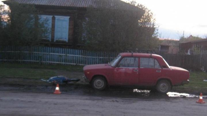 Пьяный водитель сбил велосипедиста в Мокроусово