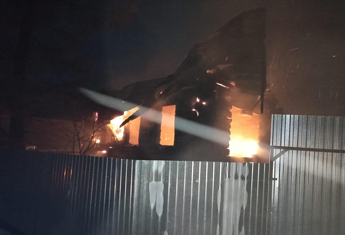 В пожаре погиб мужчина 50-летний мужчина