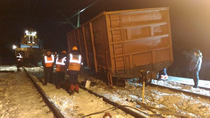 Под Екатеринбургом сошел с рельсов вагон с углём