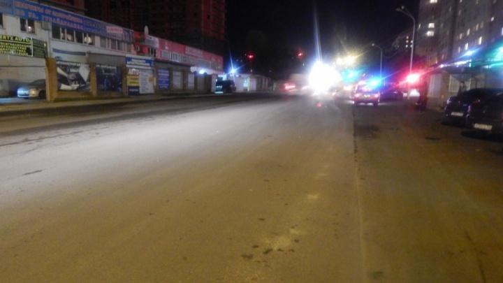 В Уфе водитель иномарки сбил пешехода, переходящего дорогу в неположенном месте