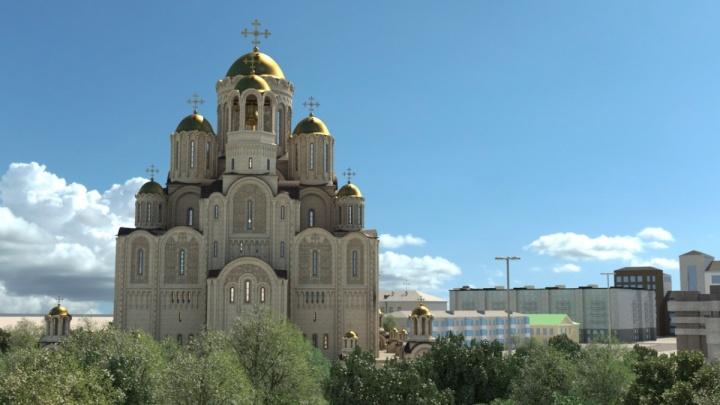 Александр Высокинский разрешил отдать сквер у Театра драмы под строительство храма святой Екатерины