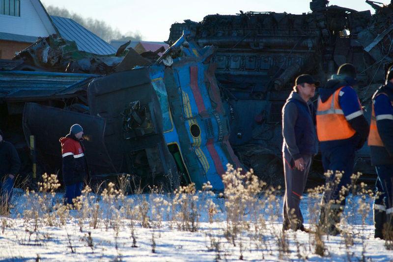 Поезда столкнулись на однопутном участке железной дороги