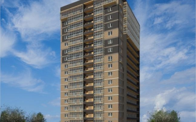 На пересечении Кирова и Дунайской построят 17-этажный кирпичный дом: квартиры от 55 тысяч за квадрат