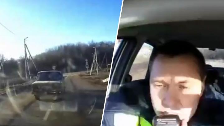 В Самарской области инспекторы ДПС устроили погоню со стрельбой за водителем без прав