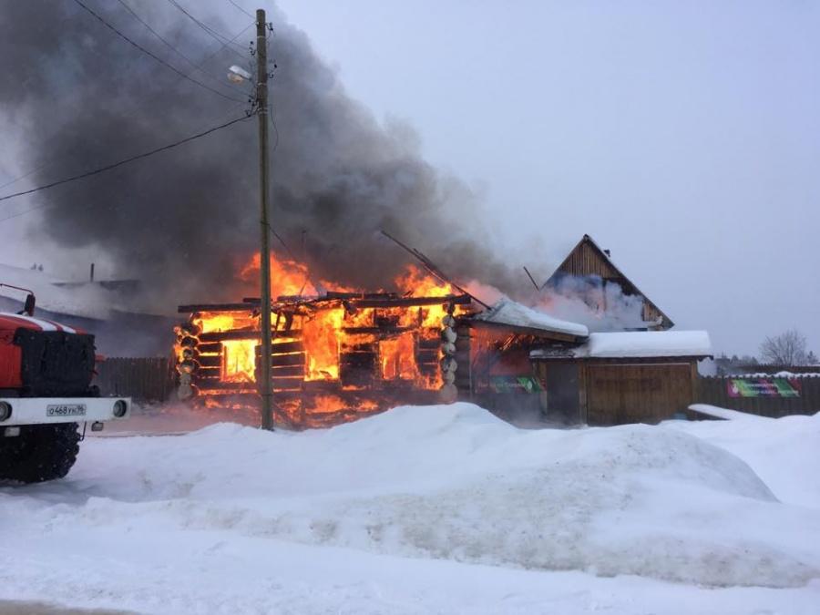 Пожар случился утром 4 февраля